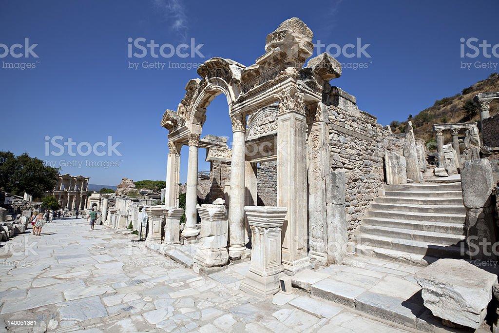 Hadrian's Temple, Ephesus royalty-free stock photo