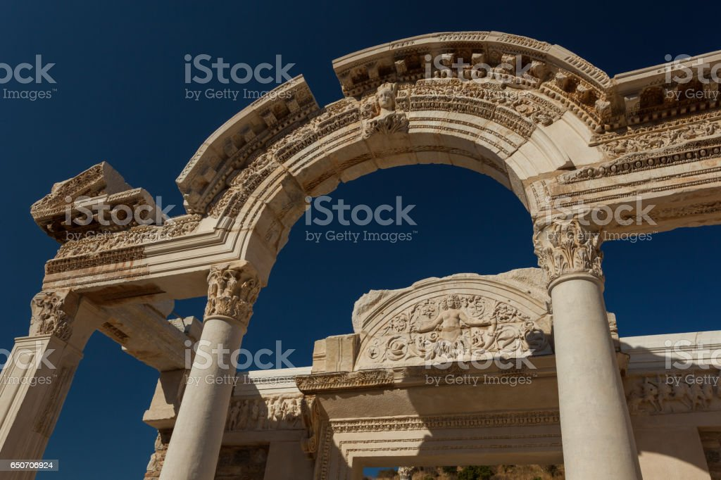 Hadrian's Temple stock photo