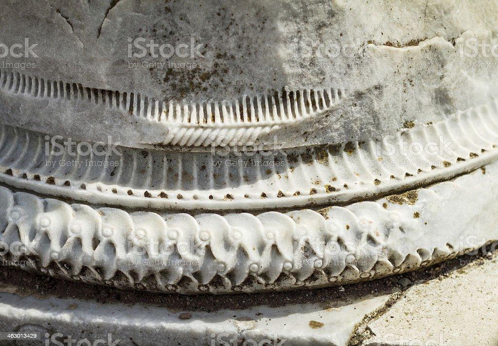 Hadrian's Villa at Tivoli: column basament detail stock photo