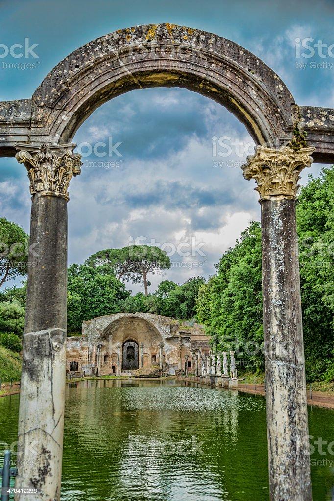 Hadrian's Villa stock photo