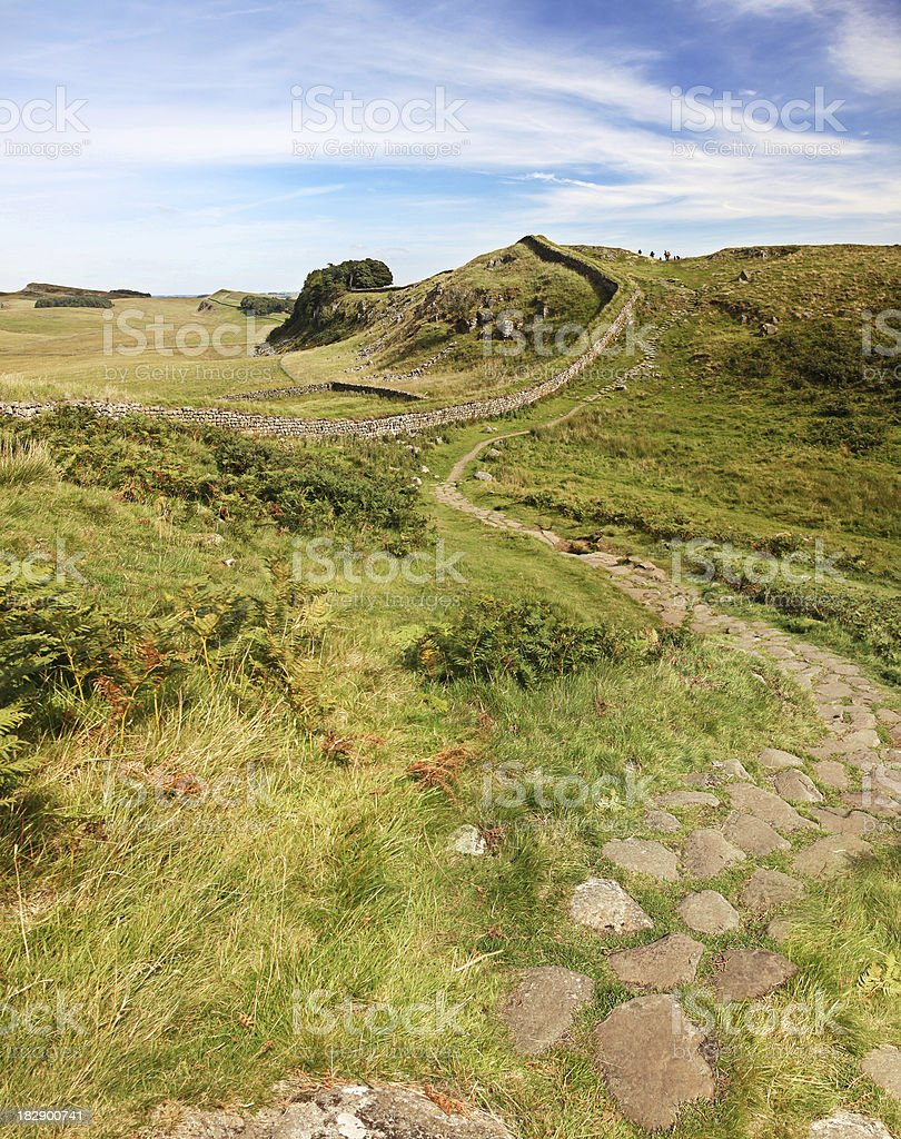 Hadrians Wall far as the Eye can see royalty-free stock photo
