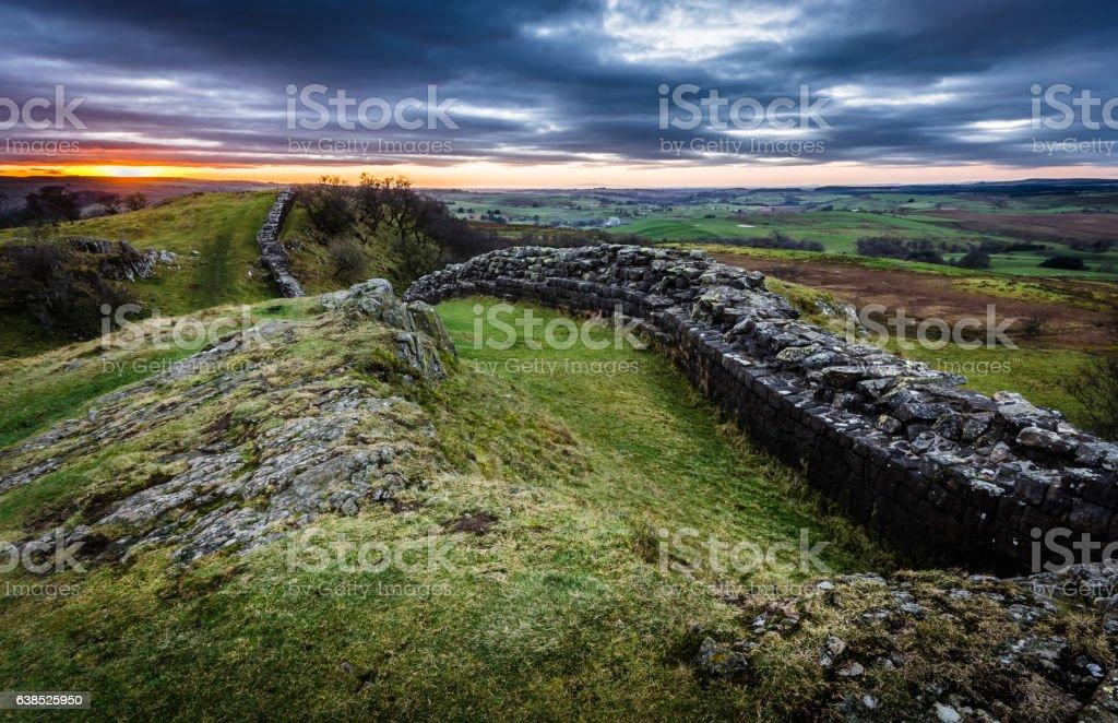 Hadrian's Wall, Northumberland stock photo