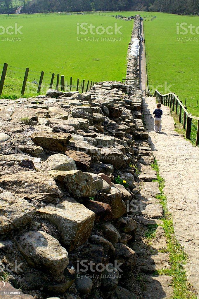 Hadrian's wall Northumberland stock photo