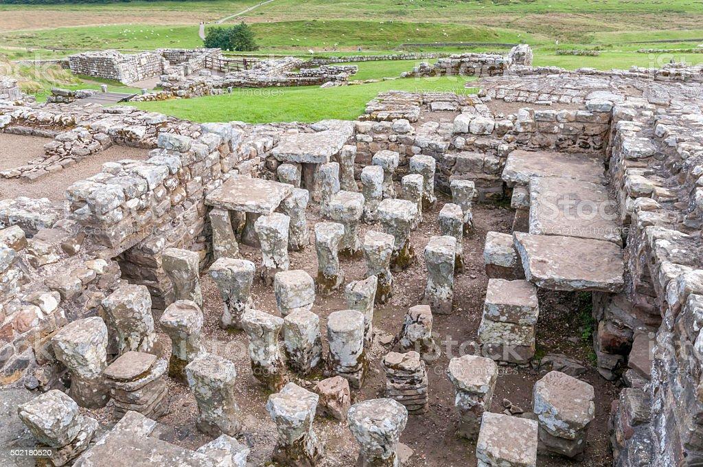 Hadrians Wall stock photo