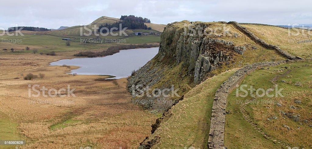 Hadrian's Wall stock photo