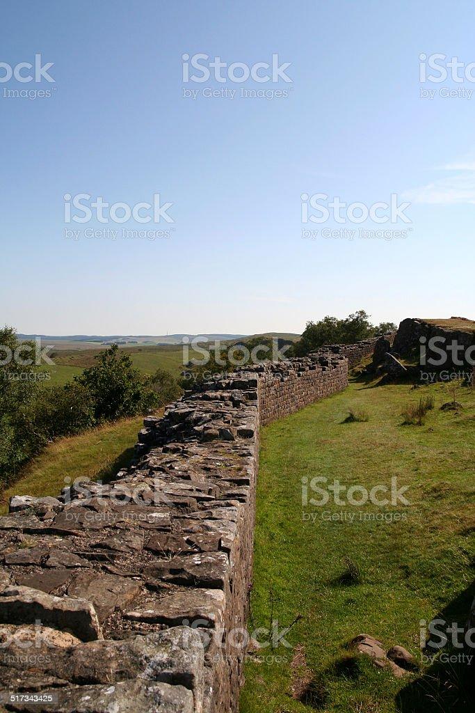 Hadrian's Wall. stock photo