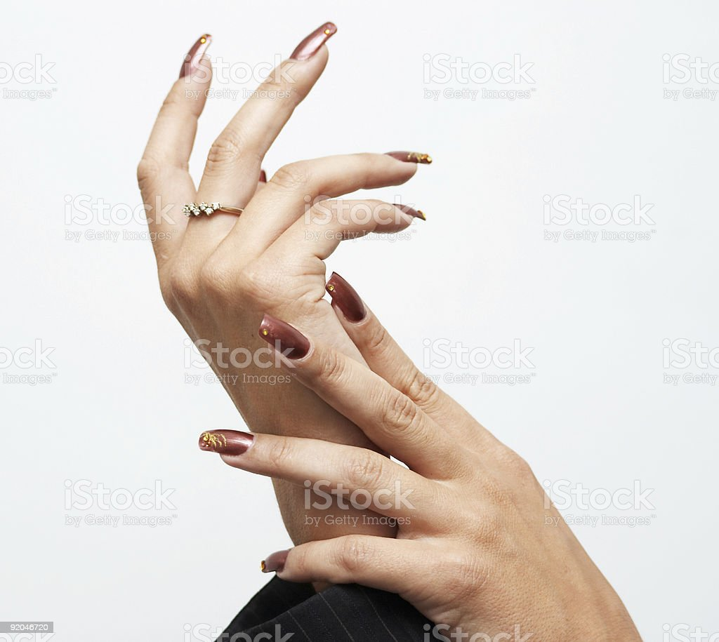 Hads with manicure royalty-free stock photo