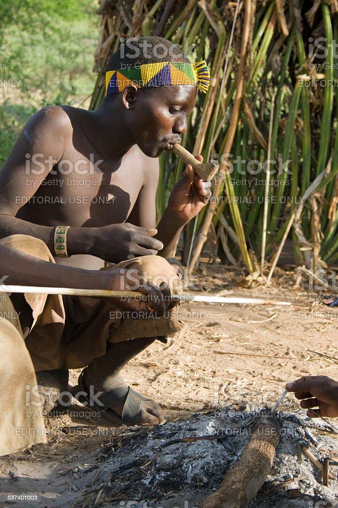 Hadzabe Bushman stock photo
