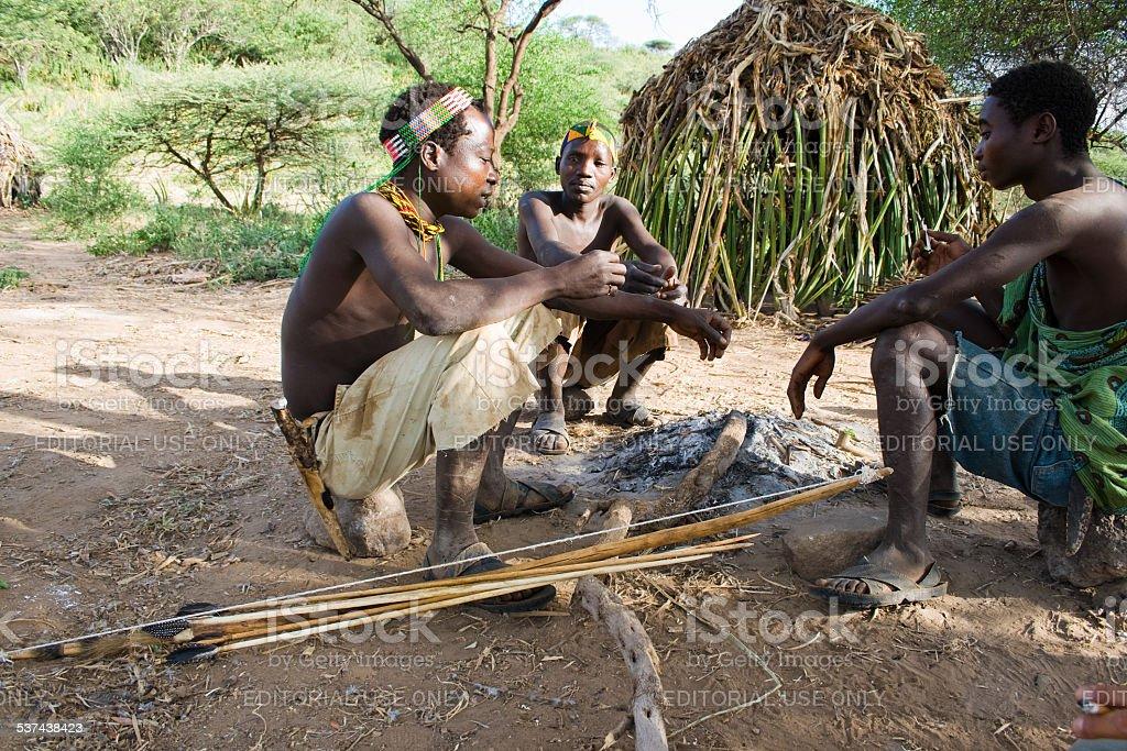 Hadzabe Bushmen stock photo