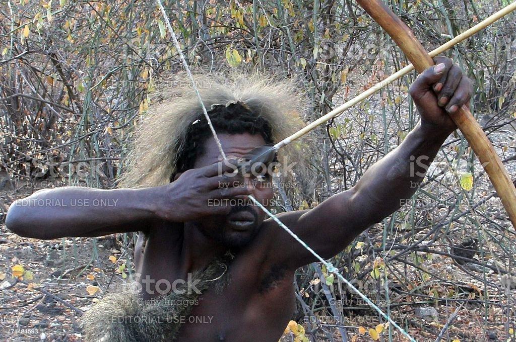 Hadzabe hunter stock photo