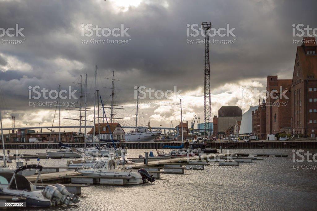 Hafen von Stralsund stock photo