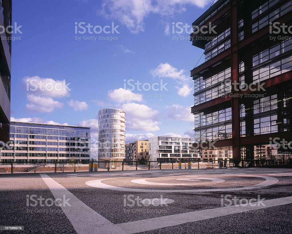 Hafencity development project in Hamburg, Germany. stock photo