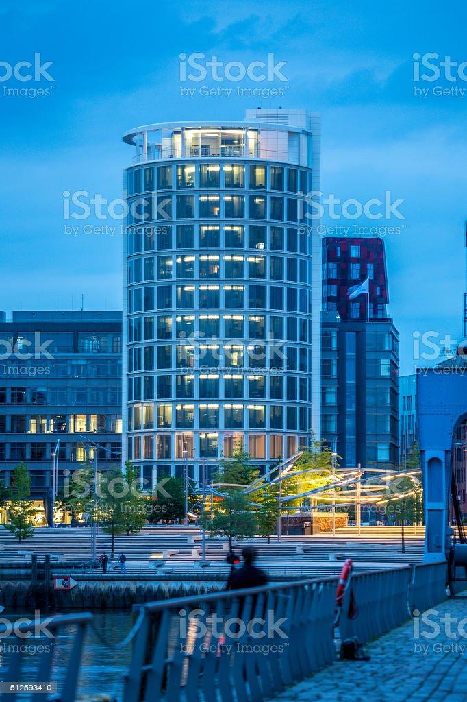 Hafen-City Hamburg stock photo