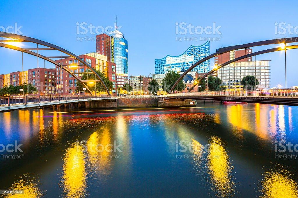 HafenCity in Hamburg stock photo