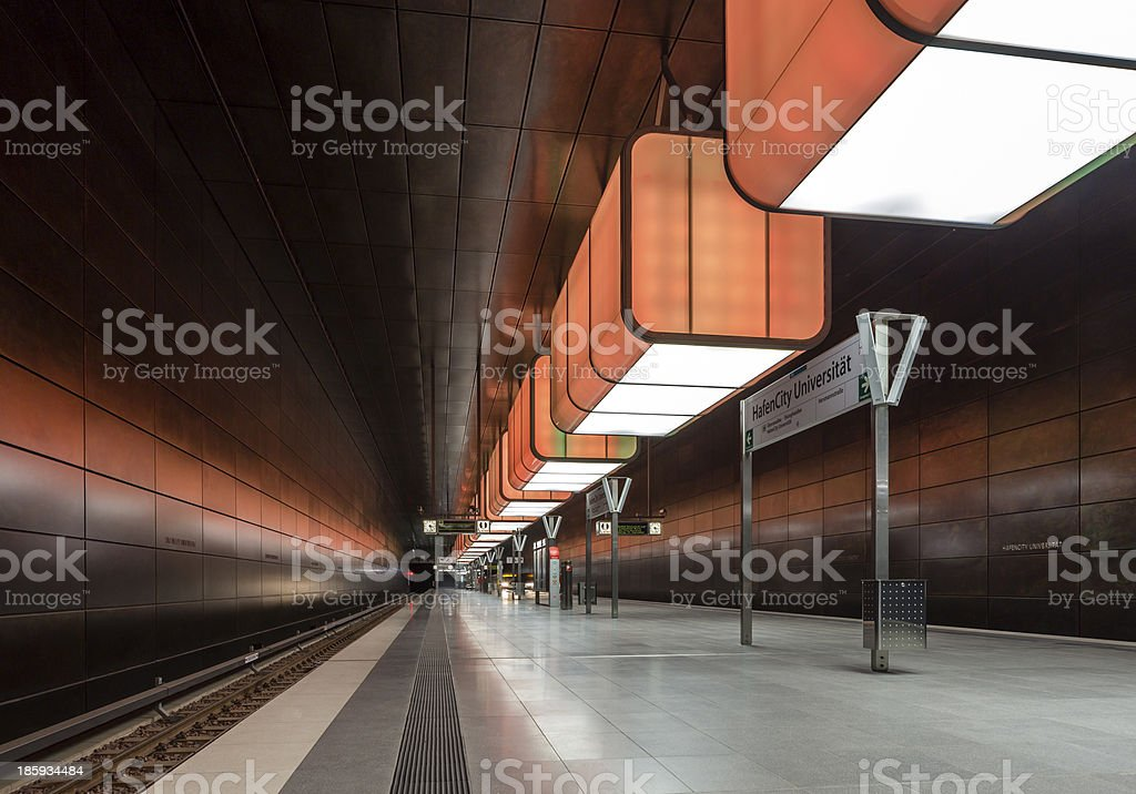 HafenCity Station royalty-free stock photo