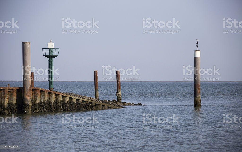Hafeneinfahrt stock photo