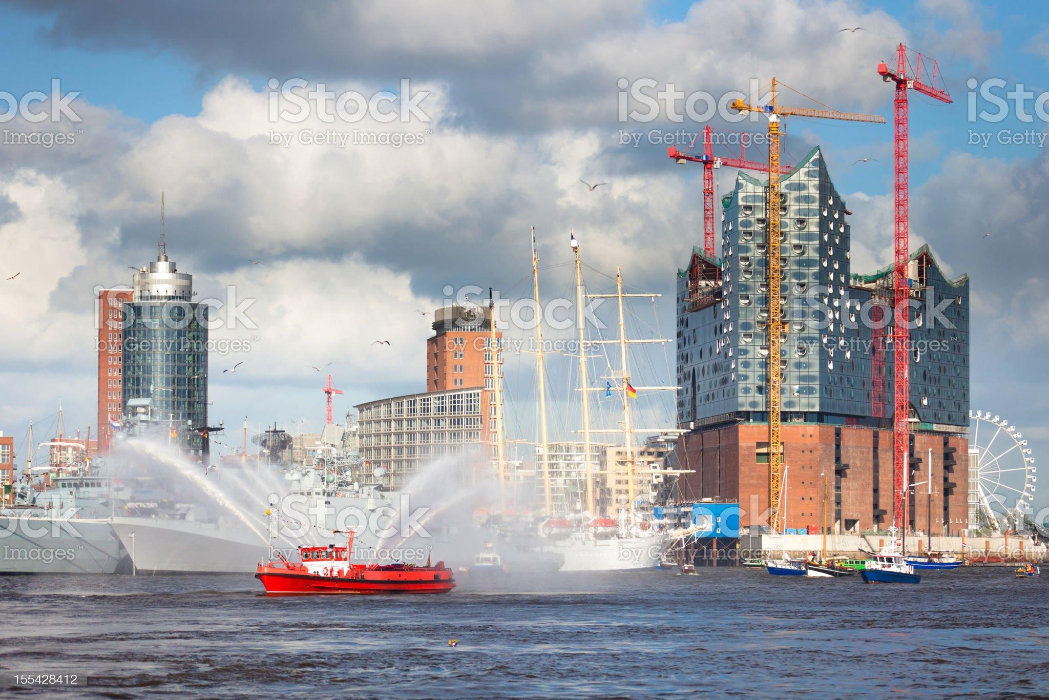 Hafengeburtstag Hamburg royalty-free stock photo