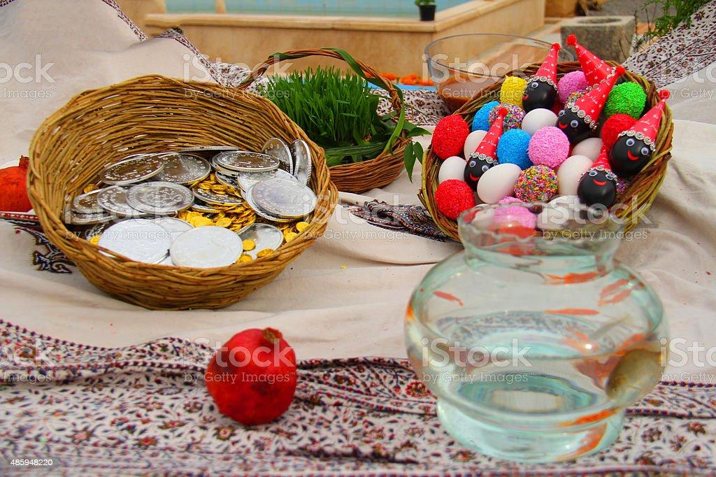Haft-sin-Nowruz-Stock Image stock photo