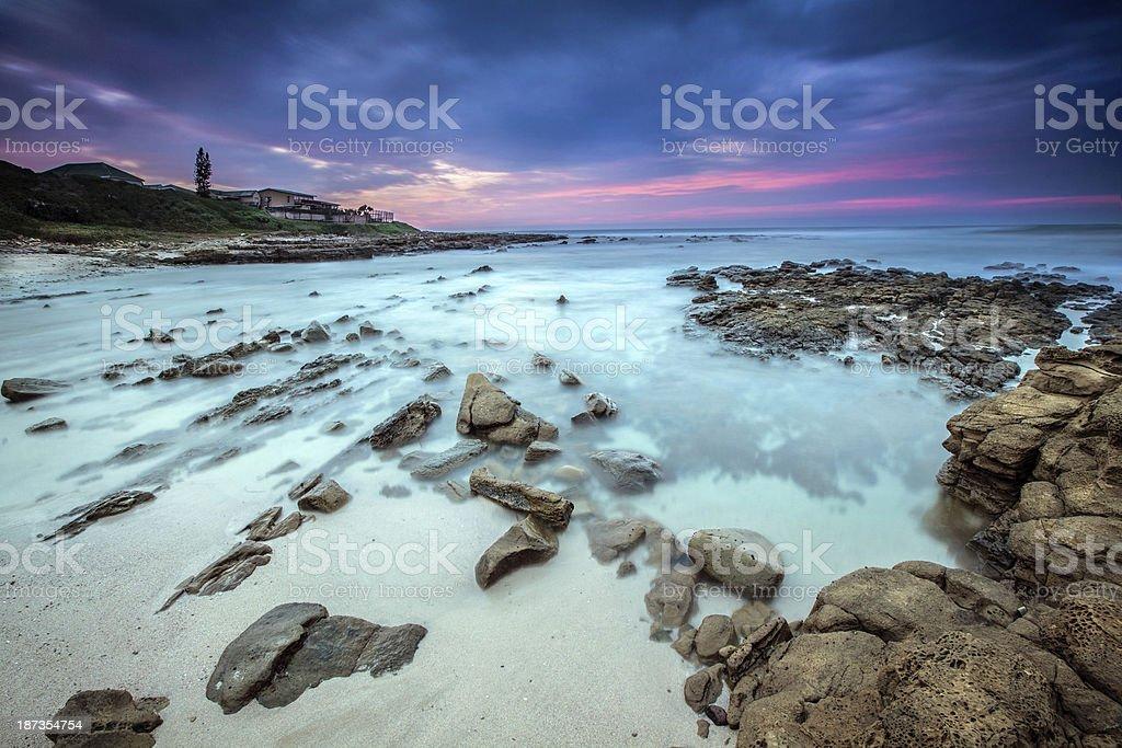 Haga beach south africa stock photo