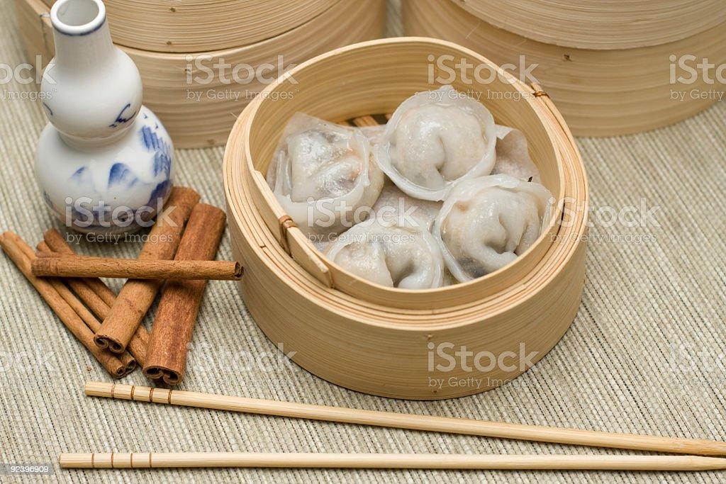 hagao in bamboo basket stock photo