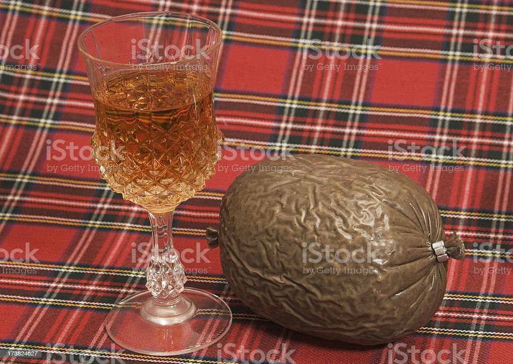 Haggis and Whisky stock photo