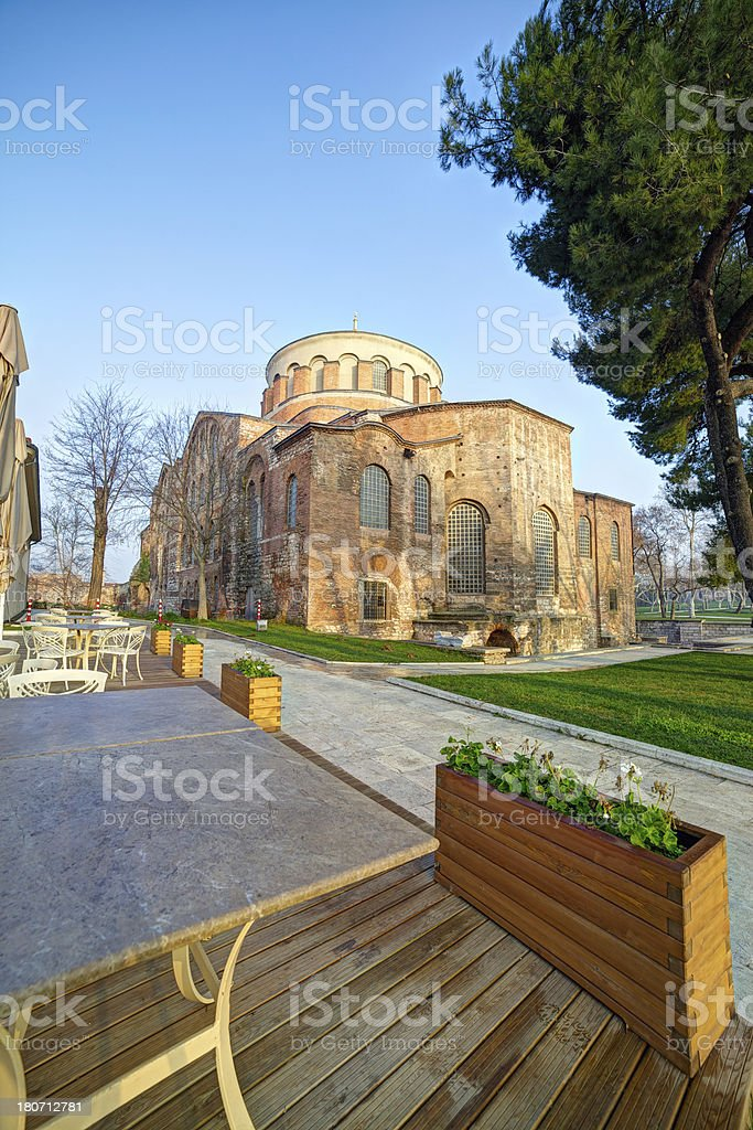 Hagia Irene Church, Istanbul, Turkey stock photo