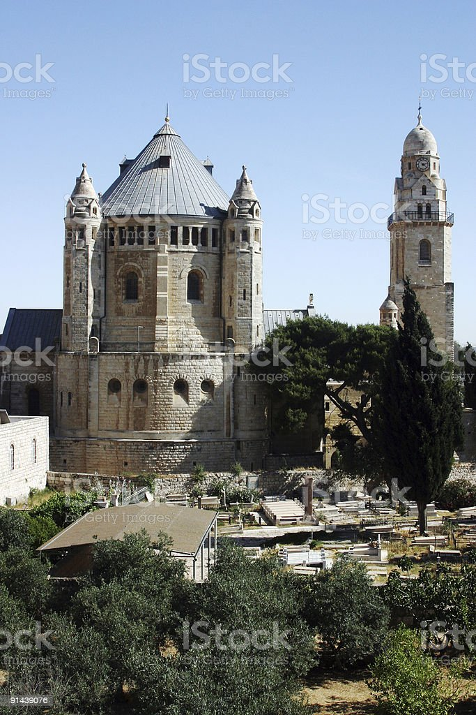 Hagia Maria Sion Abbey Church ,Jerusaelm stock photo