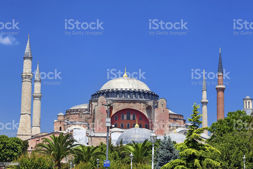 Hagia Sofia in Istanbul, Turkey royalty-free stock photo