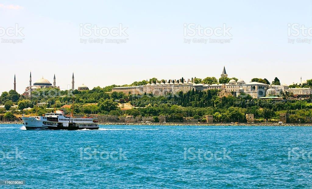 hagia sophia and topkapı palace royalty-free stock photo