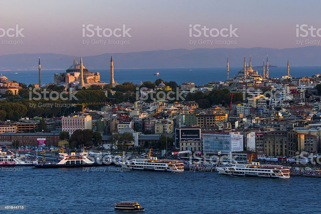 Hagia Sophia And Topkap? Palace royalty-free stock photo