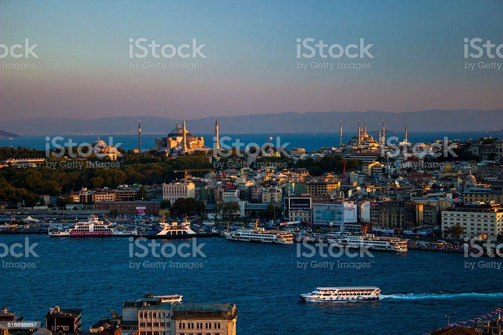Hagia Sophia And Topkap? Palace royalty-free stock photo