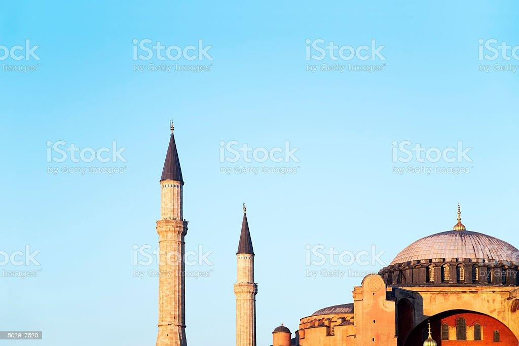 Hagia Sophia at sunset, Istanbul, Turkey stock photo