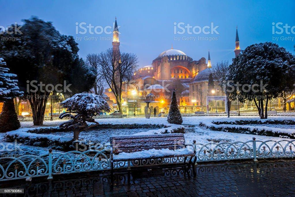 Hagia Sophia - Ayasofya in Istanbul, Turkey stock photo