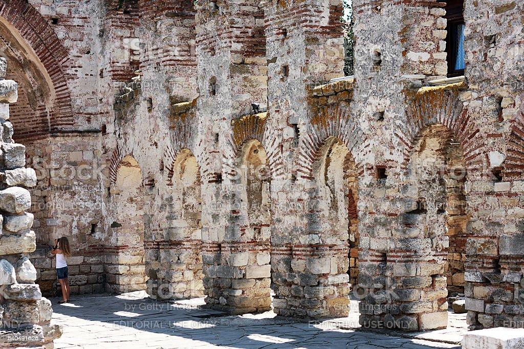 Hagia Sophia Church in Nesebar, Bulgaria stock photo