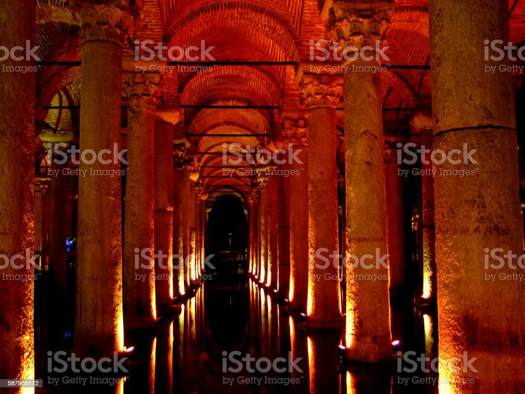 Hagia Sophia Cisterns, Istanbul, Turkey stock photo