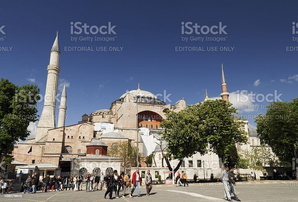 Hagia Sophia Front, Istanbul, Turkey royalty-free stock photo