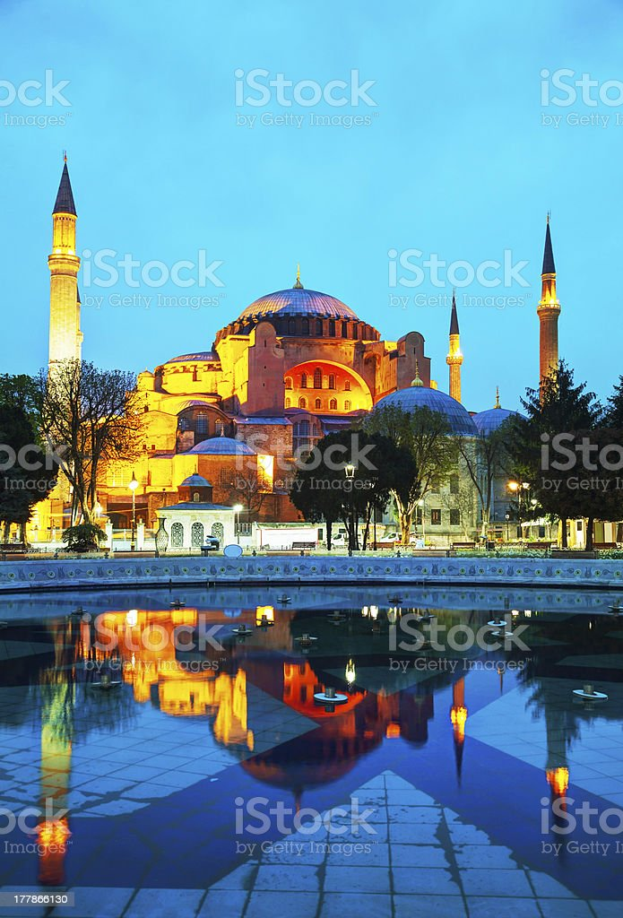 Hagia Sophia in Istanbul, Turkey royalty-free stock photo