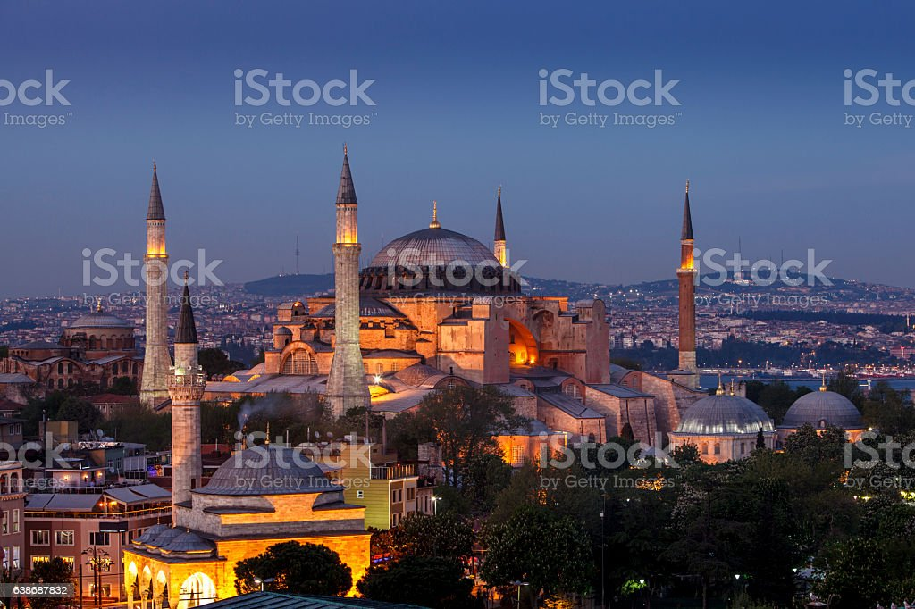 Hagia Sophia in Istanbul, Turkey stock photo