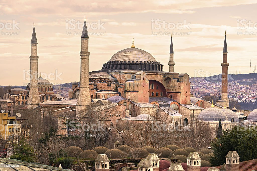 Hagia Sophia in Sultanahmet district, Istanbul. Turkey. stock photo