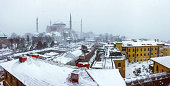 Hagia Sophia in winter season at Istanbul,Turkey