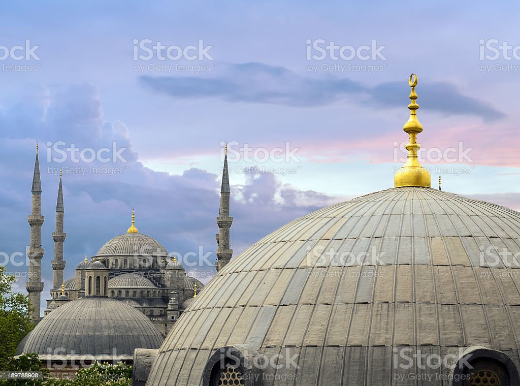 Hagia Sophia Interior in Istanbul, Turkey stock photo