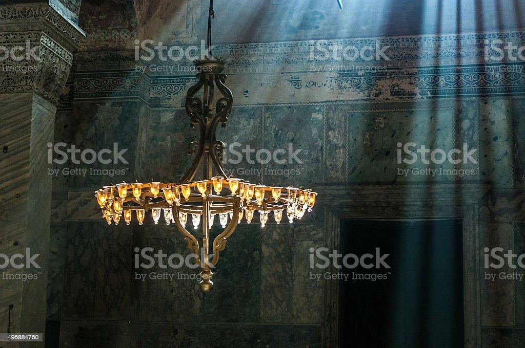 Hagia Sophia interior, Istambul, Turkey stock photo