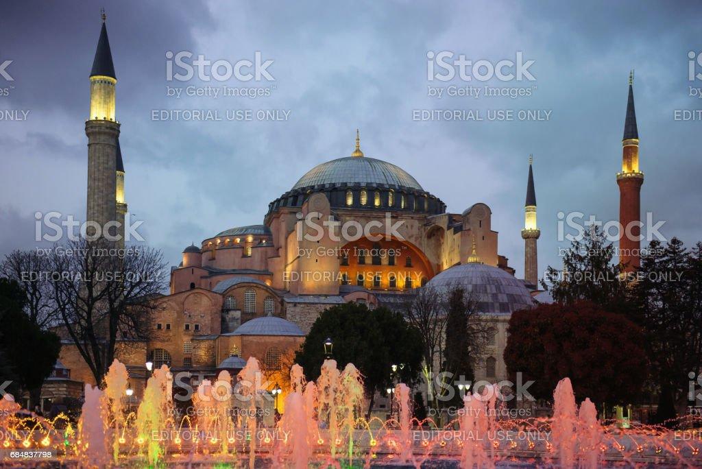 Hagia Sophia is Greek Orthodox Christian patriarchal basilica in Istanbul stock photo