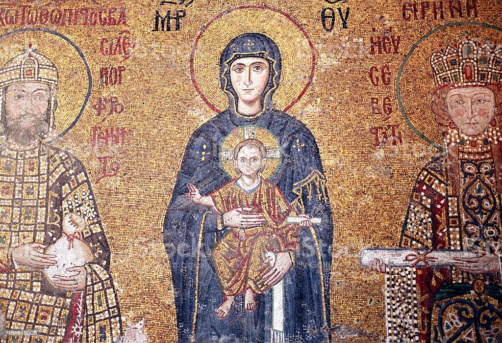 Hagia Sophia Mosaic stock photo