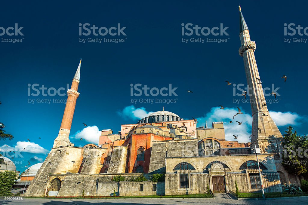 Hagia Sophia Mosque in Istanbul stock photo