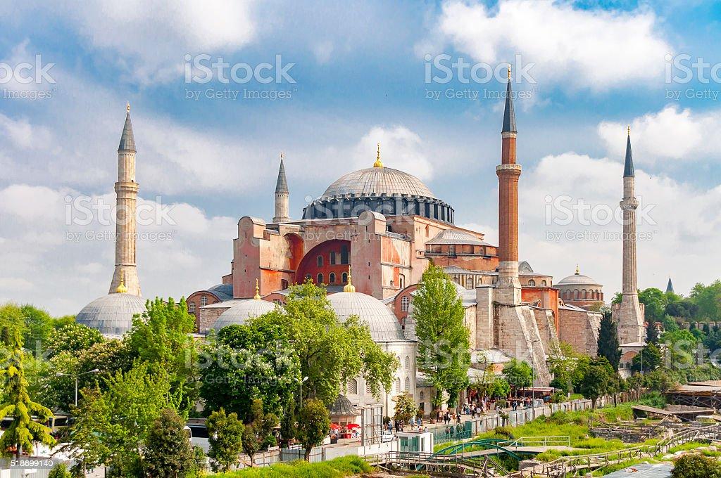 Hagia Sophia or Ayasofya Mosque, Istanbul. stock photo