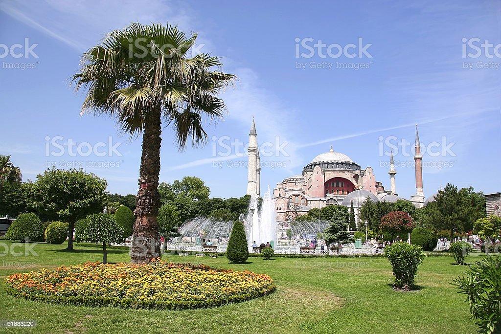 Hagia Sophia spring view royalty-free stock photo