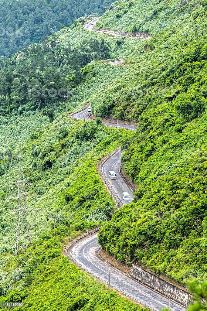 Hai Van Pass stock photo