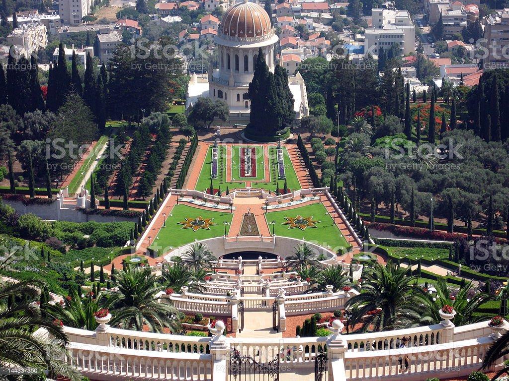 Haifa Bahai Gardens royalty-free stock photo