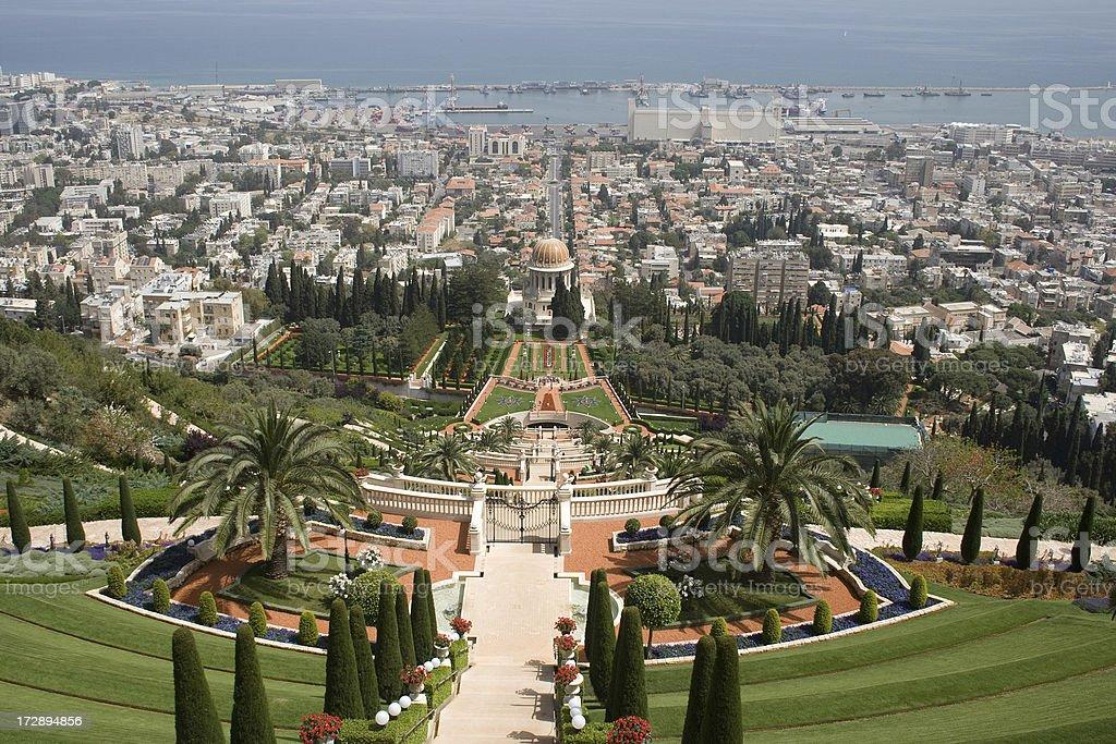 Haifa - Bahai Gardens royalty-free stock photo